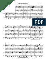 Danza Hungara 5 Score