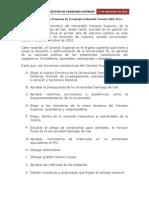 Consejo Superior- Informe- Consejero Alvaro Mina Paz
