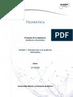 Unidad 1 Introduccion a La Auditoria Informatica
