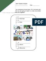 Wildlife Worksheet