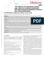 Comparison of the Effects of Oxycodone vs Fentanyl on Airway Reflex to Tracheal Intubation.13
