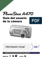 Manual de Canon a470