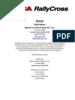 2010 Rally Cross Rules