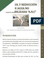 CONTROL DE REDUCCIÓN DE AGUA NO CONTABILIZADA