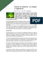 Física de Plasmas en Minería
