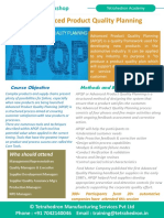 APQP – Advanced Product Quality Planning Workshop by Tetrahedron