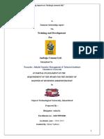 Summer Internship Training Report On