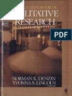 The Sage Handbook of Qualitative Research 3e