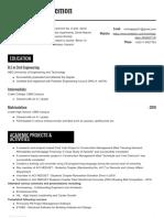 Minhaj Resume