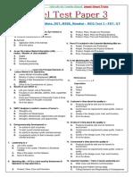 Model Test Paper 3