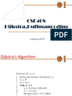 Lecture 27(Dijkstra,Huffmancoding)