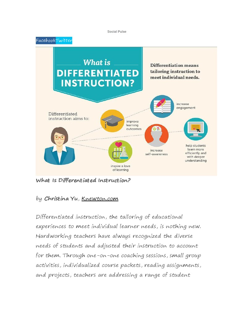 Does Tailoring Instruction To Learning >> Differetiated Instruction Strategi Differentiated Instruction 7