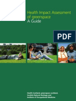 Health Impact Assessment of Greenspace