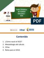 Metodología Del Cálculo Del ISCE