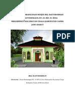 PROPOSAL Pembangunan Mesjid Dkl
