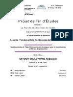 Rapport  Implémentation de l'algorithme solve and decompose pour la résolution des  problèmes d'optimisation SAYOUTI SOULEYMANE Abdoulaye