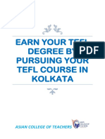 DEGREE BY PURSUING YOUR TEFL COURSE IN KOLKATA