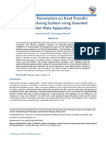 Studies of Parameters on Heat Transfer through Glazing System using Guarded Hot Plate Apparatus