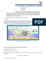 Analysis of Effect of Cavittion In Hydraulic Turbines