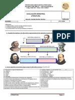 Evaluación Bimestral Literatura 1ero y 2do