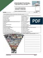 Evaluación Bimestral Lenguaje y Literatura 3ero y 4to