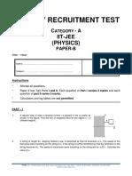 0152 Cat-A Iitjee Physics Paper b