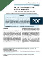 The Design and Development of Anti Accident Automobile