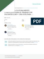 Psicoterapia culturalmente competente para el trabajo con pacientes LGBT+