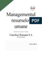 Managementul Resurselor Umane - Carrefour Romania S.A