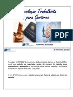 Apostila - Curso Legislação Trabalhista Para Gestores (CDL)