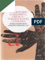 Marchese, Angelo & Forradellas, Joaquín (1978) - Diccionario de Retórica, Crítica y Terminología Literaria