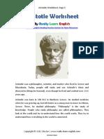 Aristotle Reading Activity