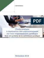 Guide Administrateur Responsabilité Juridique