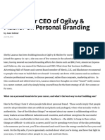 The Former CEO of Ogilvy & Mather on Personal Branding