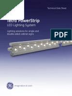 GE LED Signage Lighting Tetra PowerStrip Data Sheet