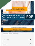 Curso Transición a la Mueva ISO 14001:2015. Cambios clave.