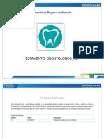 Protocolo de Registro Odontologo