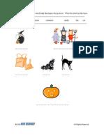 Activity Sheet   Grade 1-2   Halloween Name Game