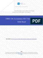 Accountancy 2011 Unsolved Paper Delhi Board