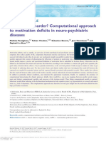 Why not try harder? Computational approach to motivation deficits in neuro-psychiatric diseases