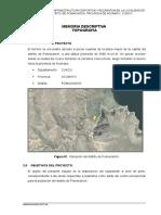 Memoria Descriptiva Topografia Cr Poma