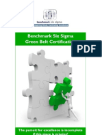 Benchmark Six Sigma Green Belt Training Brochure