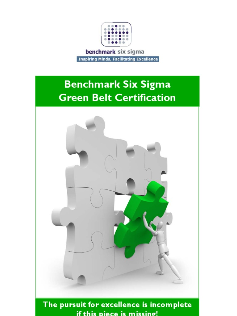 Benchmark Six Sigma Green Belt Training Brochure Six Sigma