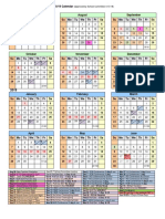 2018-19 Mansfield Calendar