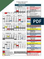 Needham 2018-2019 Calendar