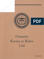 ATF Curio and Relics List