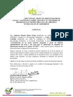 Certificado UNAL