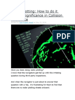 Radar Plotting How to Do It and Its Significance in Collision Avoidance