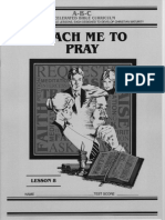 I want to learn to Pray
