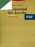 Cárcova(2006) La opacidad del derecho